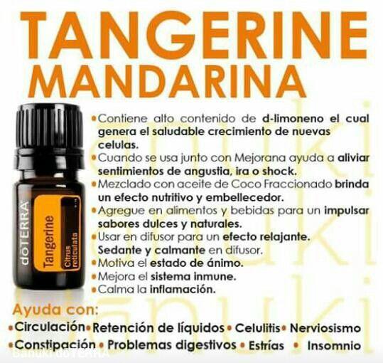 El aceite esencial de mandarina